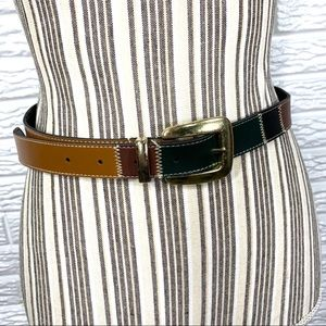Vintage Multicolored Leather Belt
